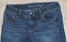 American Eagle Artist stretch crop jeans 2 skinny Juniors AE fade leg slim blue