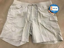 NEW Columbia Ladies' UPF 30 Water Repellent Cargo Court Shorts, Fossil, Small
