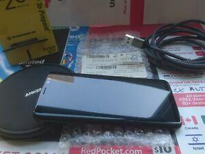 Samsung S8 64G UNLKD H2O WIRELESS 2GB/5G-ATT PLAN ANKER POWERWAVE 10W WRLS CHGR