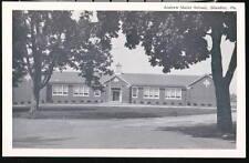 BLANDON PA Andrew Maier School Vintage B&W Postcard Old Penna PC