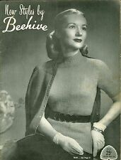 New Styles By Beehive Vintage Knitting Pattern Book