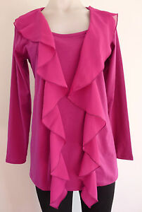 womens jacket top size S M L XL top tunic jacket cardigan TWO FER  NEW