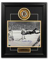 Bobby Orr Boston Bruins Autographed 1970 Stanley Cup Goal 19x23 Frame: GNR COA