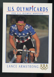 GEM MINT 1992 IMPEL LANCE ARMSTRONG RC ROOKIE CARD PACK FRESH 92 USA OLYMPICS