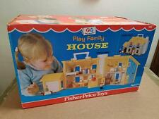 VINTAGE FISHER PRICE 952 PLAY FAMILY YELLOW HOUSE ~NEW/OLD STOCK BOX SEALED 1969