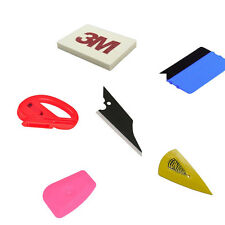 6pcs Car Film Wrap Application Vinyl Tool Kit Felt Wool Squeegee Cutter Tool Set