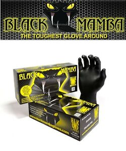 Black Mamba Super Strong Heavy Duty Mechanics Workshop Disposable Nitrile Gloves