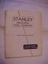 STANLEY INDUSTRIAL TOOL COMPANY ; 1956 TOOL CATALOG