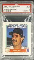 1988 Starting Line Up SLU Talking Baseball #14 Don Mattingly PSA 9 Low Pop