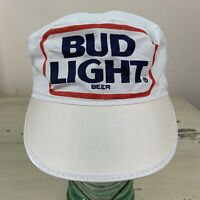 BUD LIGHT BEER - NWOT Vtg 70s-80s Budweiser White Painter Workwear Hat Cap, NEW!