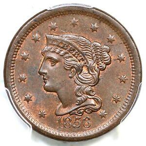 1856 N-14 PCGS MS 64 BN Braided Hair Large Cent Coin 1c