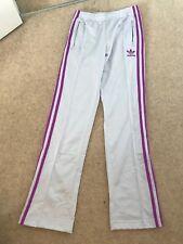 Adidas Firebird Track Pants Poly Grey Womens Small UK 6