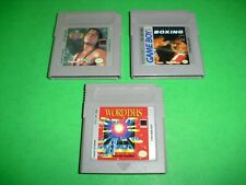 King of the Ring, Heavyweight Championship Boxing & Wordtris VG COND for Gameboy