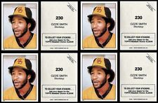 4 - OZZIE SMITH 1981 TOPPS STICKERS # 230 - HALL OF FAME - SAN DIEGO PADRES SS