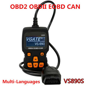 VS890S OBD2 OBDII EOBD CAN Car Code Reader Scanner Diagnostic Multi-Languages