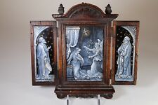19Th Century French Limoges Triptych- Artist Signed