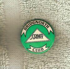 #D123. Bridgnorth Stamp Club Tin Badge