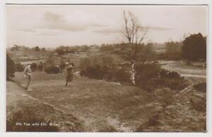 Sport Postkarte - 9th T-Shirt & 8th Grün - Möglicherweise Liphook Golf Course -