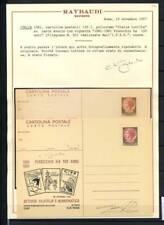 Italia Repubblica 1981 Cartolina 100% Fil. Z3, ** Raybaudi Pinocchio Certificato