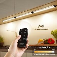 3er 12W LED Unterbauleuchten, 900LM Dimmbar Küchenlampe  Kontrolle Fernbedienung