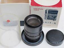 RARE Leica R 90mm f:2.8 Elmarit lens UVa filter/cap/bubble/BOX one cam red scale