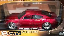 WOW EXTREMELY RARE Dodge Charger R/T Tuning 2006 Red met Kustom$ 1:18 Jada