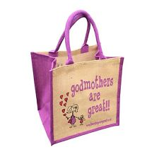 """Godmothers are Great"" Jute Shopper from These Bags Are Great"