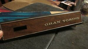 NOS 1972 - 1976 FORD GRAN TORINO RH WOODGRAIN DASH TRIM FACE PANEL W EMBLEM