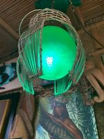 New Bamboo with Green float Tiki Lamp by Smokin' Tikis Hawaii fx