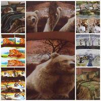 DOUBLE 3 D EFFECT DUVET QUILT COVER SET 4 PCS  - DESIGN ANIMAL