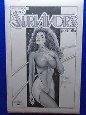 STEVE WORON'S SURVIVORS PORTFOLIO #441/1300 SIGNED! ~ 1988 ~ ILLUSTRATION STUDIO