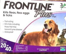 Frontline Plus 3 Doses For LARGE Dogs 45-88 lbs Purple FREE SAME DAY SHIPPING