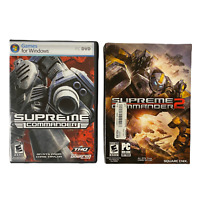 Lot of 2: Supreme Commander (2007) and Supreme Commander 2 (2010) PC CD