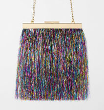 ZARA NEW BEADED MINI CROSSBODY BAG WITH CLASP Mother-of-pearl-effect 6606//004