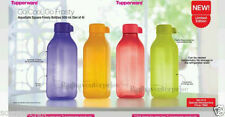 2 X Tupperware Square Water Bottle - 500 ml /16 Oz Bottles Eco Aqua Safe New