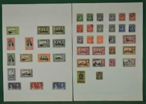ST. LUCIA STAMPS SELECTION ON 2 ALBUM PAGES USED  (F81)