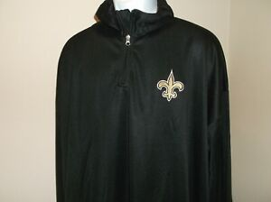 New Orleans Saints 1/4 Zip Pullover Men's 4XL Free Ship new with tags