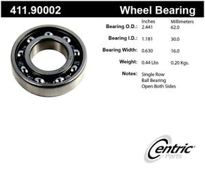 Rr Axle Bearing  Centric Parts  411.90002