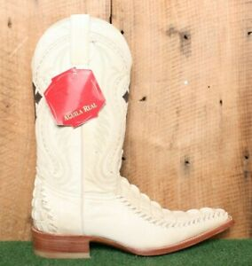 AGUILA REAL Genuine Crocodile Braided Leather Cowboy Boots MEX 26.5 | US 7.5