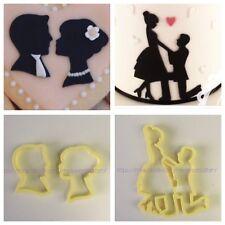 Silhouette Innamorati Per Torta Formine Pasta Di Zucchero COOKIE CUTTER 10 Cm