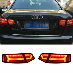 LED Taillights Assembly For Audi A6 2009-2011 Red Replace OEM Rear lights
