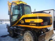 JCB js130w Mini Escavatore decalcomania Set con Safty AVVERTIMENTO