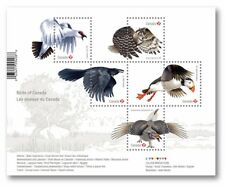 ca. OWL, PUFFIN, RAVEN, GROUSE, ROCK PTARMIGAN, Souvenir Sheet, MNH Canada 2016