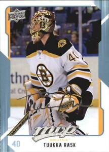 2008-09 Upper Deck MVP Boston Bruins Hockey Card #29 Tuukka Rask