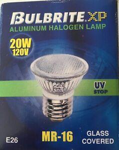 [3 Pack] Bulbrite BAB/E26 20 Watt 120Volt Halogen MR16 Covered Flood Lamps