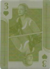Outlander Season 4: Yellow Printing Plate Playing Card 3 of Hearts