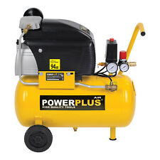Druckluft Kompressor 1500 Watt 2 PS 8 bar 24 Liter Powerplus Luftkompressor
