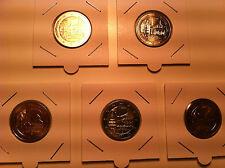 SERIE 5 ATELIERS X 2 EURO ALLEMAGNE 2013 CHATEAUX COMMEMORATIVE