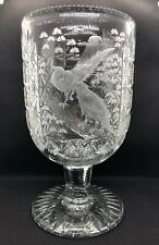 Thomas Webb Crystal Wellington Pattern Punch Bowl With Engraved Pheasants