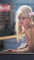 REVUE COLLECTION N°647 PARIS MATCH B.BARDOT 1961 BE IN FOLIO